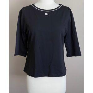 ✨Authentic Vintage Chanel 90's CC Top Shirt Blouse